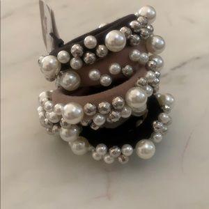 Pearls headband elastic